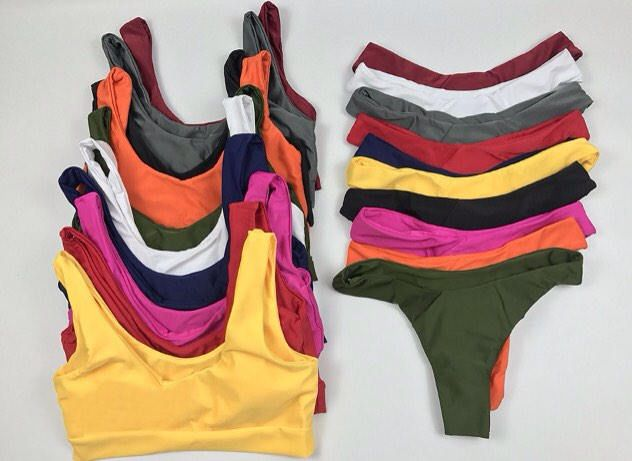Seamless Sporty Bikini Top and Cheeky Bottom With Support Band by TheCraftingTater on Etsy https://www.etsy.com/listing/565741643/seamless-sporty-bikini-top-and-cheeky