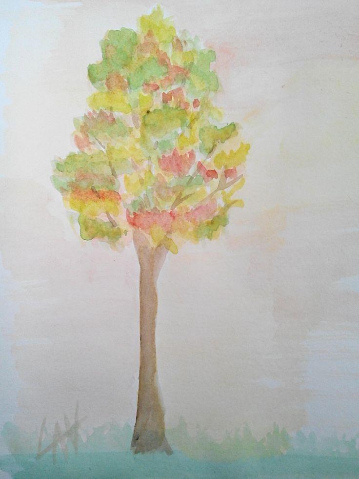 @lauraudiovisual Watercolor tree