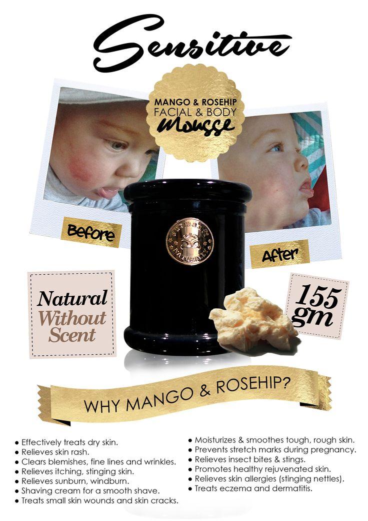 Surmanti Mango & Rosehip Facial and Body Mousse - Sensitive (Natural Without Scent)