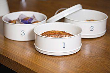 Living Nostalgia Kitchen Craft Boîte à gâteaux en métal à 3 niveaux Crème: Cuisine Maison