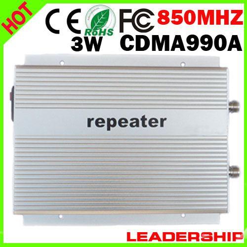 CDMA990A 3G mobile phone repeater CDMA990A CDMA 850mhz 800mhz booster CDMA 800mhz/850mhz repeater 85dbm 3W EMS Free shipping #Affiliate
