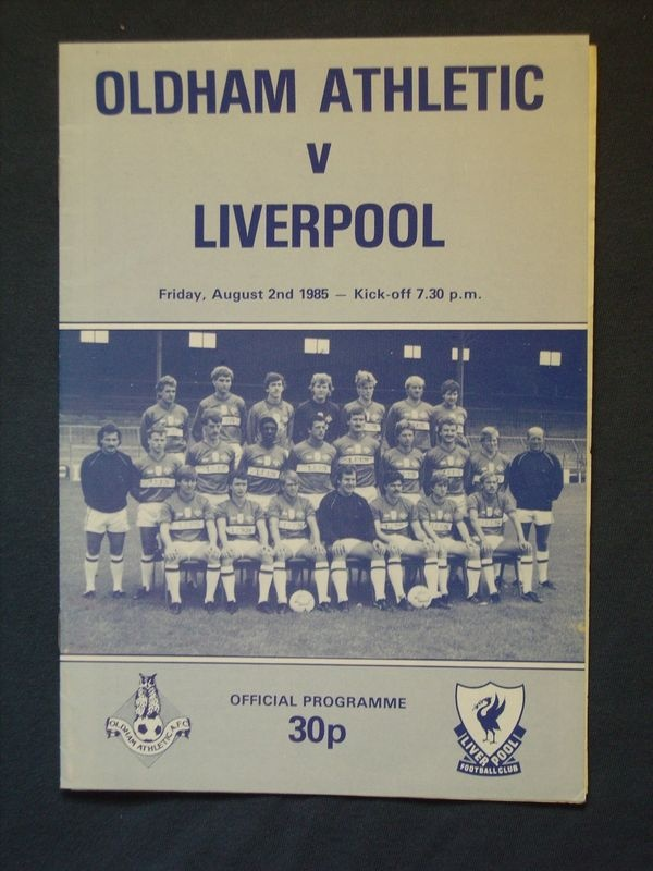 Oldham Vs Liverpool 1985