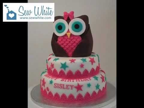 Owl Tiered Birthday Cake - YouTube