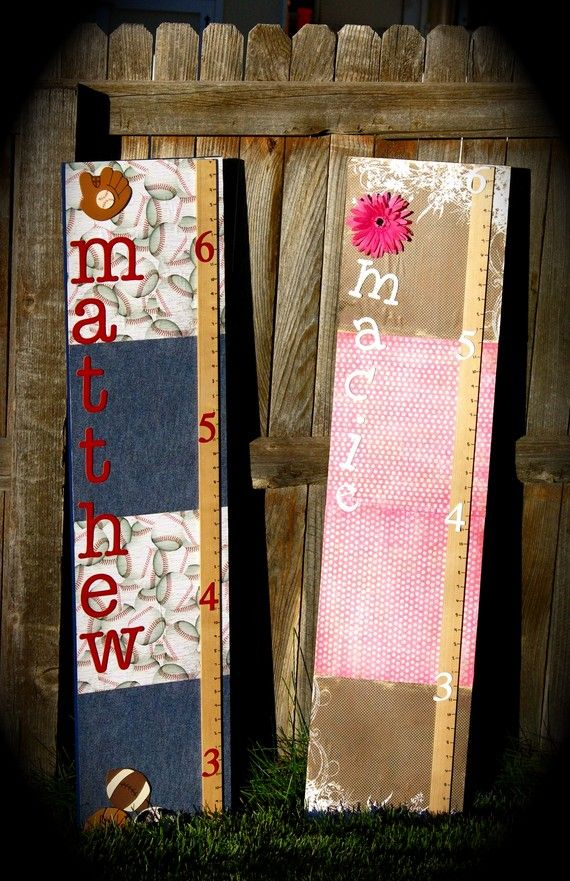Watch Me Grow-Growth Chart   (design it so I can mod podge photos of each milestone age)