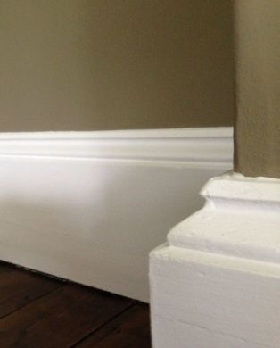 large two part traditional period bespoke skirting board moulding for victorian and georgian properties