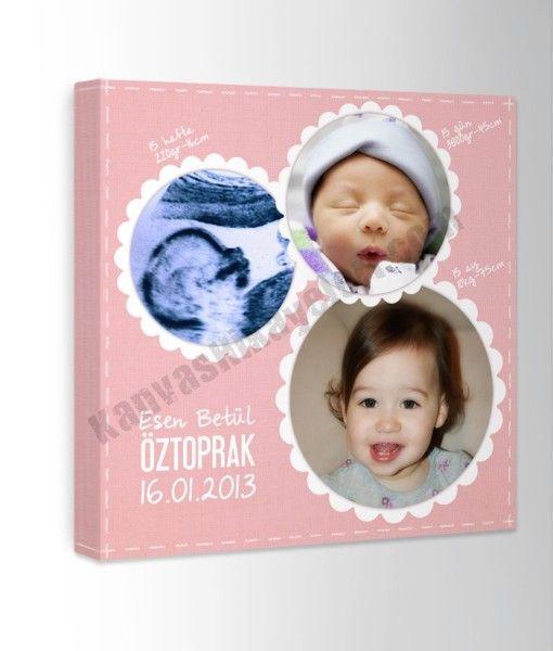 Bebek Zaman Tüneli Kanvas Tablo Bebeğinizin ultrason (isteğe bağlı) görüntüsünden başlayarak 3 ayrı fotoğrafından oluşan zaman tüneli kanvas tablo. www.kanvashikayeleri.com #bebek #cocuk #canvastablo #kanvastablo #kanvashikayeleri #hediye