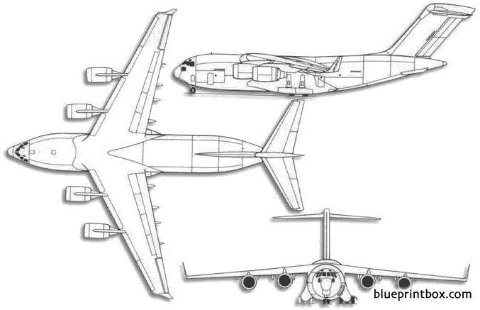Boeing C 17 Globemaster Iii Blueprintbox Com Free Plans And
