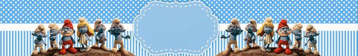 Pitufos: Etiquetas para Candy Bar, para Fiesta de Niño, para Imprimir Graits.