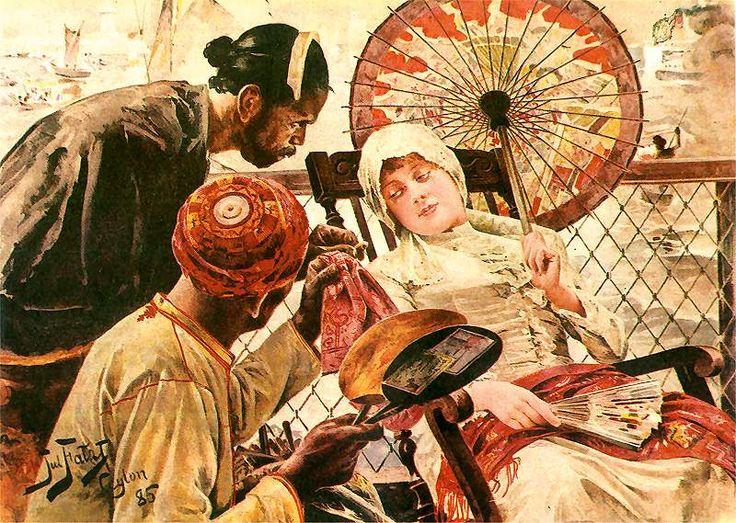 Julian FALAT 1886  http://pinakoteka.zascianek.pl/Falat/Images/Na_statku.jpg