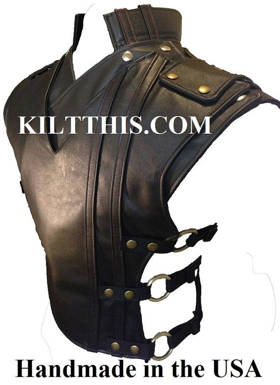 Baddie Black Leather Vest and Priest Collar for james