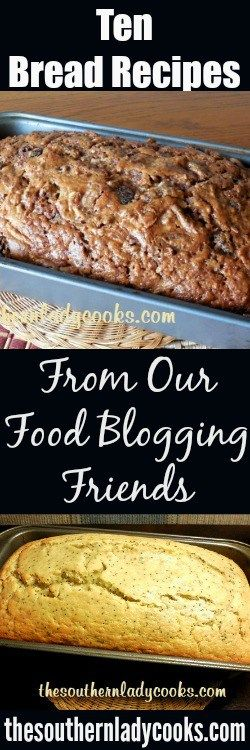 Ten bread recipes you will love from our food blogging friends. Great for fall or autumn.