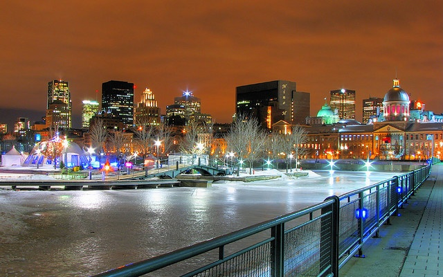 Old Montreal after dark