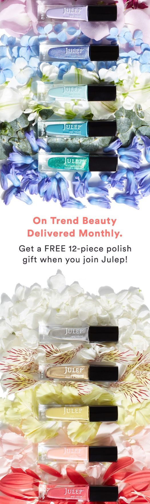 Join Julep Beauty Box and get full-size beauty, polish, and skincare delivered to your door every month. Plus, get a 12-piece polish gift ON US ($168 value) when you join! Offer ends 4/15.