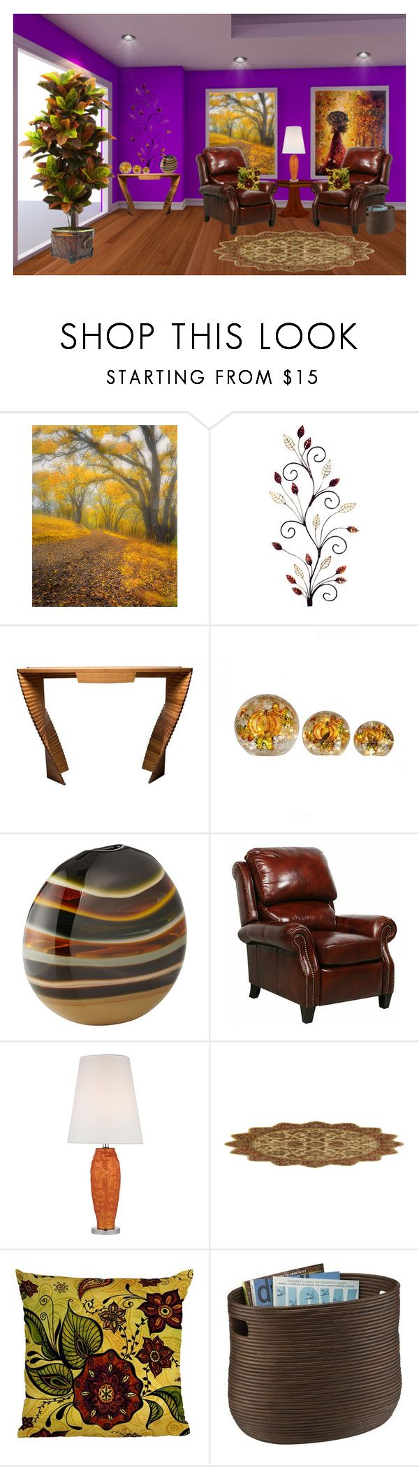 """""""No Place Like Home... Autumn Decor 2"""" by marvy1 ❤ liked on Polyvore featuring interior, interiors, interior design, home, home decor, interior decorating, Caleb Siemon, BarcaLounger, Dimond and DENY Designs"""