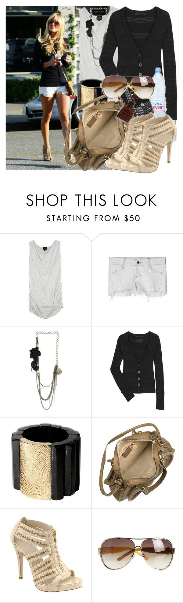 """Kristin Cavallari"" by m2mel ❤ liked on Polyvore featuring Kristin Cavallari, Vivienne Westwood Anglomania, Siwy, Marquis & Camus, Marc by Marc Jacobs, Roberto Cavalli, Chloé, Evian, Wild Diva and Marc Jacobs"