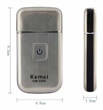 KEMEI KM-5088. USB, беспроводная бритва для походов, путешествий, туризма и т. д. Уход за лицом. Личная гигиена. Триммер для бороды.
