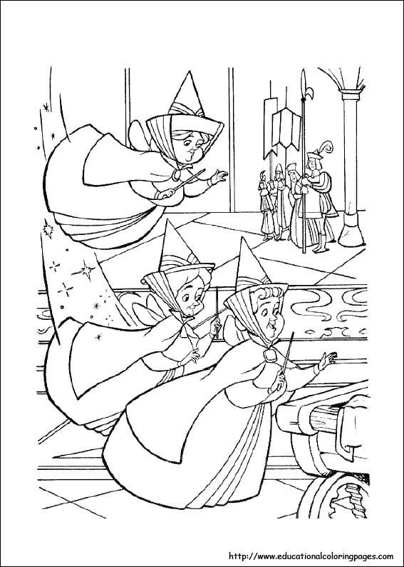 sleeping beauty disney coloring page