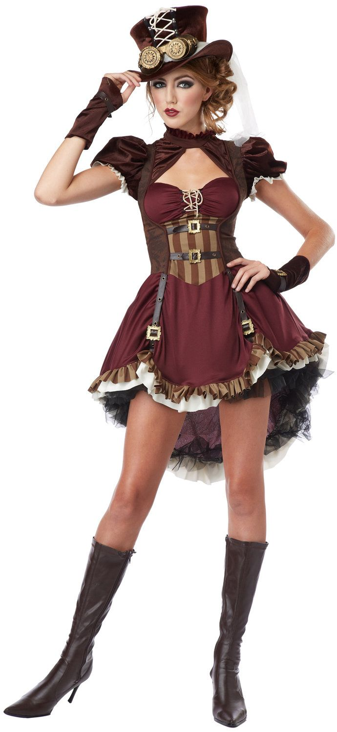 steampunk girl teen costume for halloween pure costumes - Girls Teen Halloween Costumes