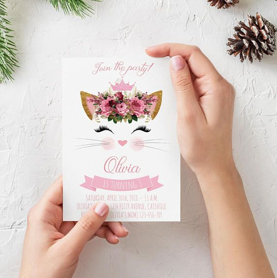 Hey, I found this really awesome Etsy listing at https://www.etsy.com/listing/566281092/kitty-cat-birthday-invitation-printable