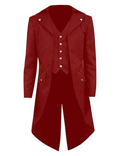 58bb70f6353b Kids Boys Steampunk Jacket Cosplay Tailcoat Gothic Long C... https