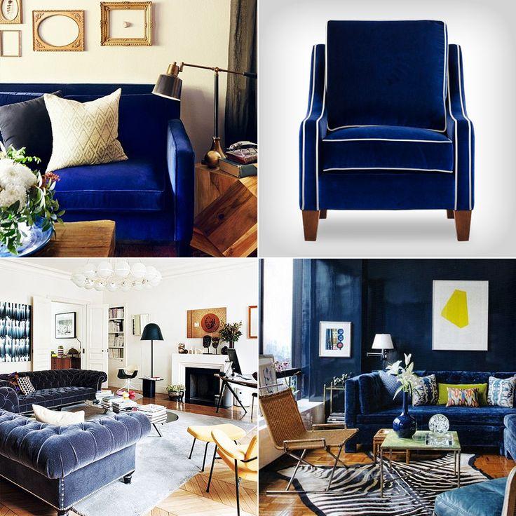 best blue velvet sofas