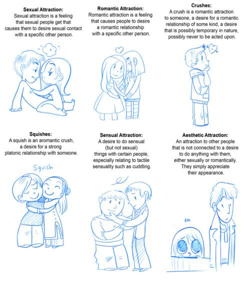 This comic was originally based on a website about asexuality, but the types of attraction are pretty much universal and can be used by sexual and non-sexual individuals