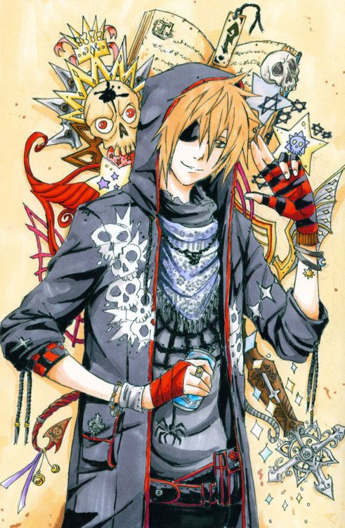 Anime boy punk goth fashion Anime / Manga / Games