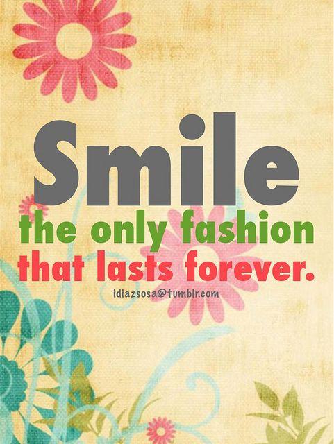 Lachen - Die einzige Mode die ewig währt.