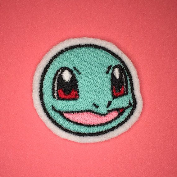 Squirtle is so happy to be your friend!  A premium patch embroidered with vivid…