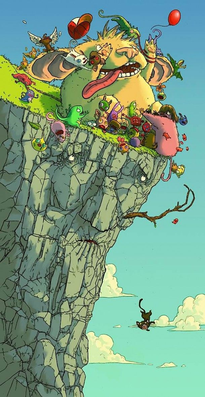 Chats Maléfiques et Crapauds Géants – Magnifiques illustrations par Jonatan Cantero