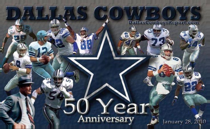Dallas Cowboys 50 Years Flag (90x150cm)