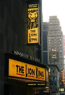 The Lion King on Broadway. Ummm yeah, this is going to be amazing.