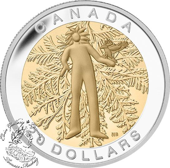 Canada: 2014 $20 The Seven Sacred Teachings: Honesty Gold Plated Silver Coin - Coin Gallery London Store