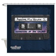 Guardians of the Galaxy Mix Tape Shower Curtain