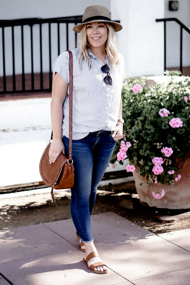 madewell striped shirt | spring style | summer style | What to Wear for a Weekend in Santa Barbara | cute vacation outfits | outfits for moms | mom outfits | stylish outfits for moms | summer style | spring style | #springfashion #mysocaledlife