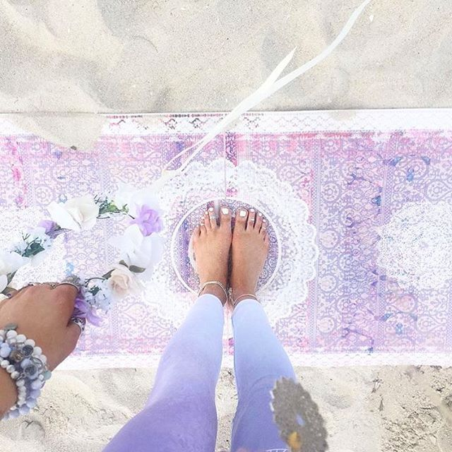 Happy Friday, loves! Make it magical.  @coconutandlime Shop this mat directly from our IG with link in bio. #marseille #printedyogamat #yog