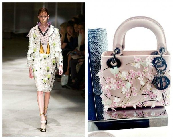 Florals have gone supersize for spring! Now we're seeing 3D flowers sewn onto dresses, embellishing bags, even on shoes!! The bigger and more blooming the better