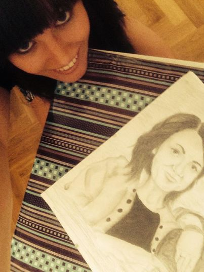Eve with a drawing that is .... Eve