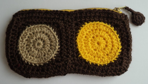 Handmade Brown metal ZIPPER  Crochet Pouch by IstanbulMystique, $13.95
