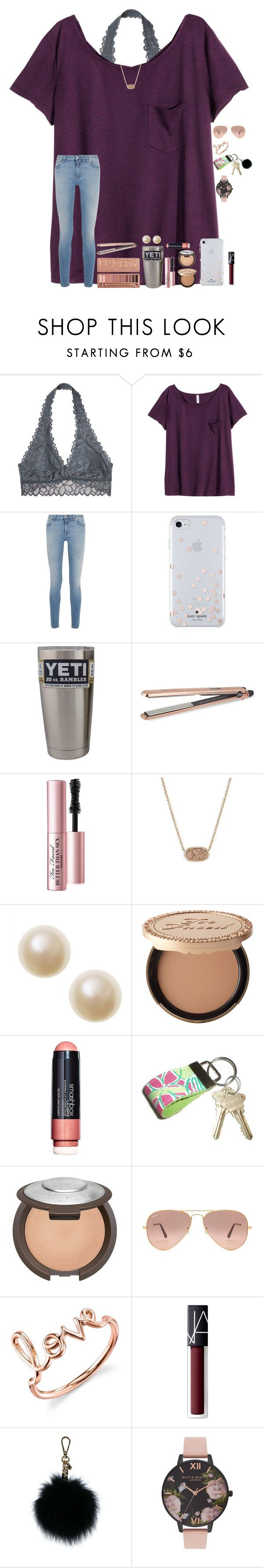 """""""In Nashville"""" by taylor-austinxoxo ❤ liked on Polyvore featuring Victoria's Secret, H&M, Givenchy, Kate Spade, DIVA, Too Faced Cosmetics, Kendra Scott, Urban Decay, Smashbox and Lilly Pulitzer"""
