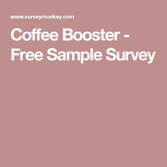 Coffee Booster - Free Sample Survey