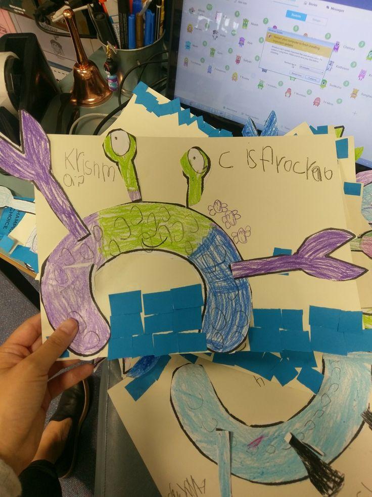Letter c crab craft