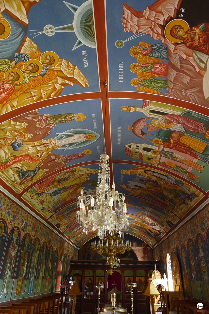 Limonos Abbey paintings Lesvos Greece inspiredbytraveling.com