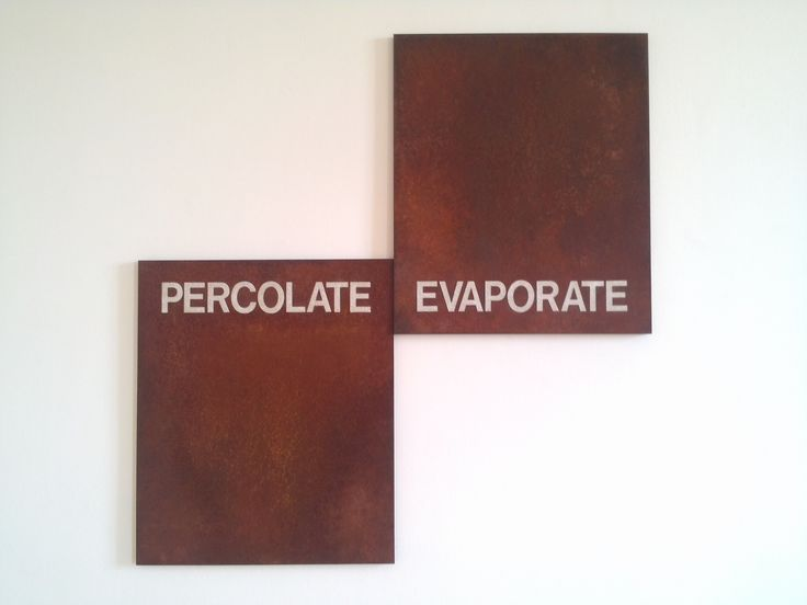Gregory Mahoney, Percolate/Evaporate, (1992)