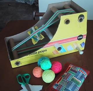cheap and cheerful inkle loom!  I fancy a go at inkle weaving but don't fancy paying too much money for my passing fancy so this looks ideal!