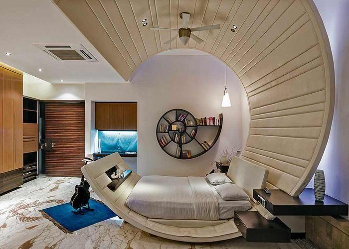Bedroom Designs - #Tao #Architecture #Furniture #furituredesign #nestled #cocoon #Spiral #bookshelf #curved #bed
