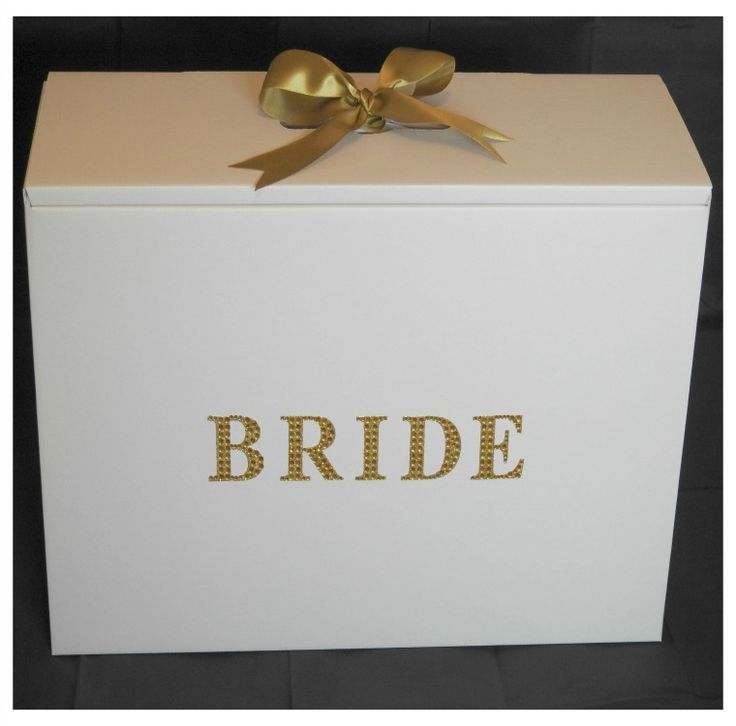 Gold Diamante Bride Stunning Wedding Dress Travel Box
