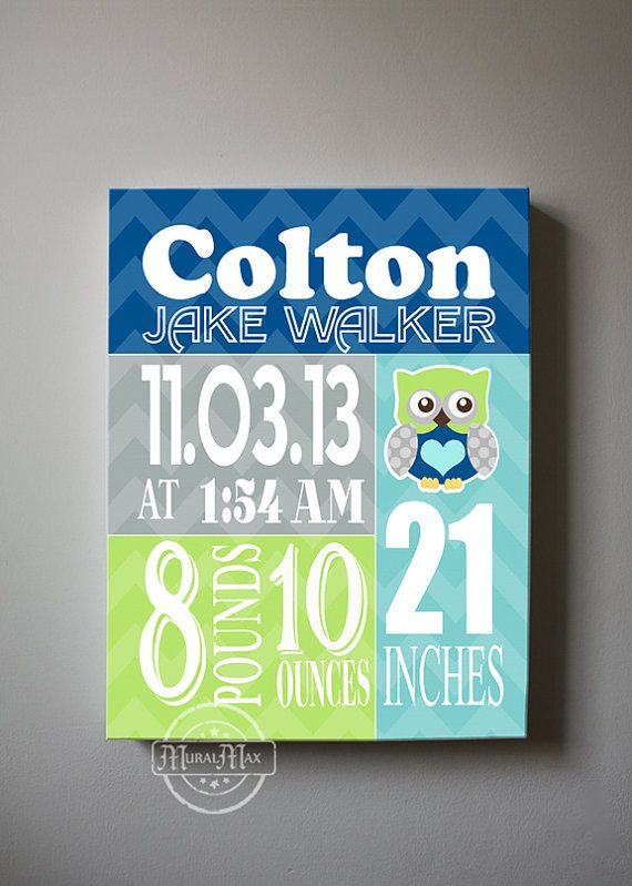 Hey, I found this really awesome Etsy listing at http://www.etsy.com/listing/179166525/baby-gift-baby-birth-announcement-canvas