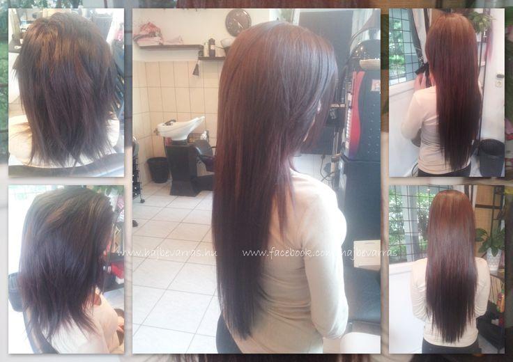 Hajhosszabbítás 55 cm-es európai hajból, 2 soros mikrogyűrűs felépítéssel.  Hair extension before - after.  #hajhosszabbitas #hajdusitas  www.facebook.com/hajbevarras