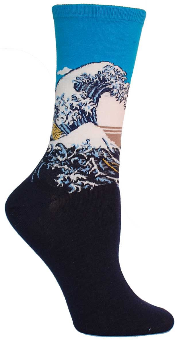 Great Wave Socks from The Sock Drawer
